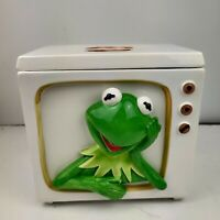 Vintage Rare Kermit The Frog TV Cookie Jar Tastesetter Sigma Jim Henson Muppets