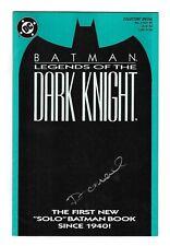BATMAN LEGENDS OF THE DARK KNIGHT 1 DC COMIC BOOK Dennis O'Neil SIGNED AUTOGRAPH