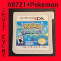 Pokemon Alpha Sapphire Loaded With All 721 + 120+ Legit Event Pokemon Unlocked