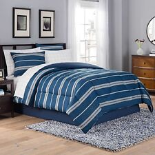 Taylor 8-Piece Full Comforter Set in Blue/Grey
