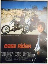 """EASY RIDER"" Affichette originale entoilée 1969 (Dennis HOPPER / Peter FONDA)"