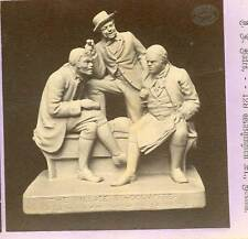 Wsa7129 Bates Stereoview of Rogers' Statuettes 19 The Village Schoolmaster D