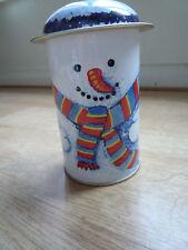 Decorative tin - snowman blue Christmas