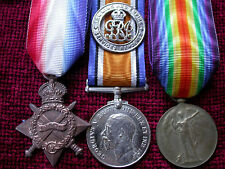 1915 Onwards Wounded Replica Copy Medal Group Aged Full size