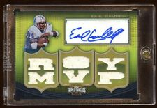 EARL CAMPBELL 2010 TOPPS AUTO GOLD #D 2/9 GAME JERSEY 6X PIECE ROY + MVP  RARE