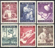 Autriche 1954 MEDICAL/Santé/Croix Rouge/infirmière/Dentiste/MICROSCOPE/moteur 6 V (n26889)