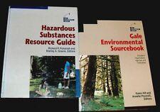 Lot of 3 - Hazardous Substances Resource Guide & Environmental Source Book &
