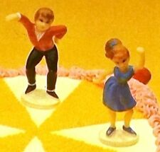 Wilton Cake Tops Teen Swingers Cake Cupcake Topper Boy & Girl Dancing VTG NOS