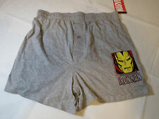 Marvel The Invincible Iron Man Boxer Shorts underwear grey Boy's Youth L NWT