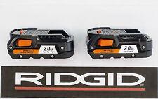 2 RIDGID RIGID 18v 18 VOLT HYPER LITHIUM X4 2Ah BATTERY PACKS BATTERIES R840086