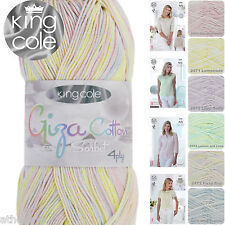King Cole Giza Cotton Sorbet 4 Ply Egyptian Cotton Knitting / Crochet Yarn