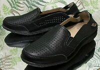 SPRING STEP BLACK LEATHER LOAFERS SLIP ONS COMFORT SHOES WOMENS SZ 8.5 EU 39 W