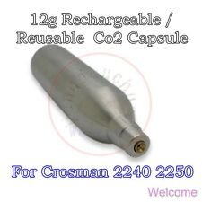 12g Rechargeable Reusable Co2 Cartridge Cylinder Airgun BB Pistol Crosman 2240