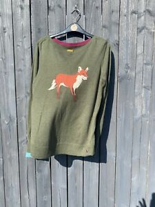 joules womens jumper size 14, Fox, Green, Pull On❤️benefits Charity❤️