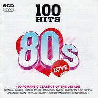 100 Hits: 80's Love by VA (5 CD Box Set, 2009, Demon Group 100 040, UK Import)