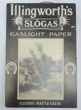 Vintage Advertising Display Sign Shop Illingworths Slogas Gaslight Paper 1930s