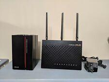Asus Rt-Ac68U Ac1900 Wireless Router & Rp-Ac68U Ac1900 Range Extender combo