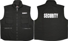 Black Security Officer Guard Ranger Tactical Vest with Hood