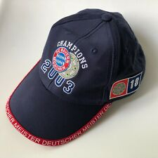 VTG Rare Bayern Munich Bundesliga Champions 2003 Cap Snap Hat Soccer Football