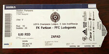 PARTIZAN BELGRADO FC vs PFC futbolen KLUB Usato Ticket Football
