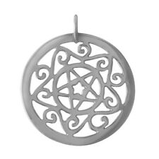 Wholesale/ Gift Sterling 925 Silver Astrological Zodiac Star Pentacle Pendant