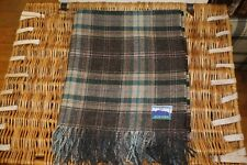 100% Wool, Lightweight, Tartan Style Throw