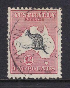 Kangaroo £2 Grey Black & Rose Crimson, CofA Wmk ASCS 58B Fine Used