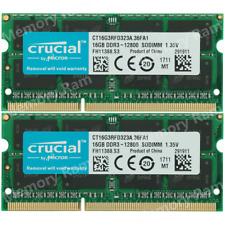 Crucial 32GB KIT 2X16GB PC3L-12800S DDR3-1600MHZ 1.35V SO-DIMM Laptop Memory Ram