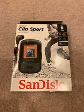 Sandisk Clip Sport 8GB Black MP3 Player FM Radio BRAND NEW