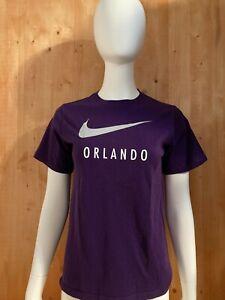 NIKE ORLANDO Graphic Print Youth Unisex T-Shirt Tee Shirt L Large Lrg Purple