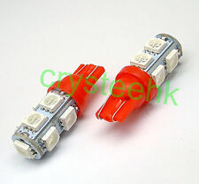 50 x T10 194,168,2825, 9 x 5050 SMD LED RED Super Bright Car Lights Lamp Bulb
