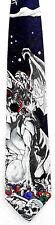 Ralph Marlin Mount Doom Dragon Mens Necktie Fantasy Skull Blue Neck Tie Gift New