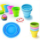 1Pc Handy Silicone Retractable Folding Cup Telescopic Collapsible Travel Cup