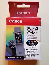 Canon bci-21 color 3 colors Genuine Canon Factory Sealed bjc 4000 bjc 5500
