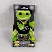 Frogz Rock It Rap It Ribbit Gemmy Hip Hop Frog Yeah Singing Dancing Plush Green