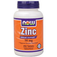Zinc Gluconate 250 Tabs 50 mg by Now Foods