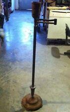 VINTAGE 30S/40S cast/brass ANTIQUE ELECTRIC FLOOR LAMP SWING ARM needs cord