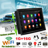 "7"" HD 1 Din Car MP5 GPS Video Player FM Radio Stereo WiFi Android 8.1  Q"