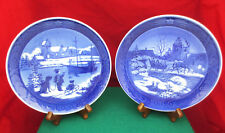 1998 & 1999 Royal Copenhagen Christmas Plates, In Original Packaging, Mint