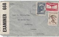 argentina 1944 censor to england stamps cover ref 13198