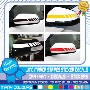 Wing mirror stripes Car Van Styling Stickers 2x Vinyl Decal Stickers Both Mirror
