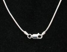 """Sterling Silver Snake Chain 18"""" Anti-Tarnish 1.2 mm  Sterling Lobster Clasp"""