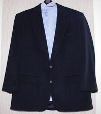 BILL BLASS Black Cashmere Men's 2 Button Vent Sport Heavy Coat Jacket Size 48