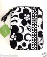 Vera Bradley Ipad Zip Cover E-Reader Sleeve Black White Quilted Cotton NWT Gift