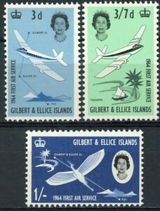 sa3929 Gilbert & Ellice Islands - Sc#79-81 Hinged