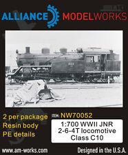 Alliance Model Works 1:700 WWII JNR 2-6-4T Locomotive Class C10 (2pcs) #NW70052*