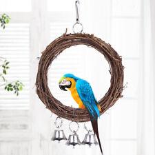 LT_ FP- Bird Vine Rattan Swing Bell Hanging Climbing Chew Bite Cage Ring Parro