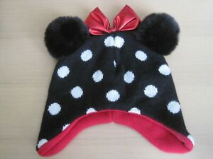 Primark Minnie Mouse Hat with Bow and Pom Pom Ears 12-24 months
