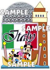 Disney World Epcot World Showcase Italy Mickey Scrapbook Paper Die Cut Piece