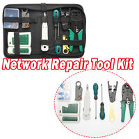 Network Repair Tools Ethernet Maintenance Tool Set Kit Crimping Cable + Case